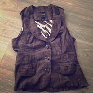My Michelle Brown Vest Size Large